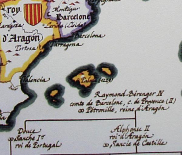 """Chrétíenté d'Occident à l'an de grâce 1235"" Aragon e Balears"