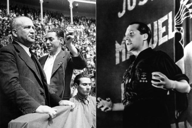 ELECCIONES. LARGO CABALLERO Y JOSE ANTONIO.