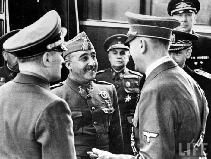 Franco y Hitler durante su encuentro en Hendaya.