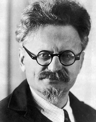 El revolucionario ruso León Trotsky.