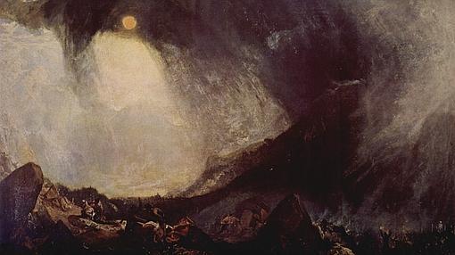 Tempestad de nieve: Aníbal y su ejército atravesando los Alpes: Joseph Mallord William Turner