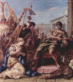 «La clemencia de Escipión». Cuadro de Sebastiano Ricci.