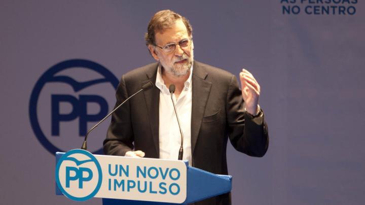 Foto: Mariano Rajoy, en Pontevedra. (EFE)