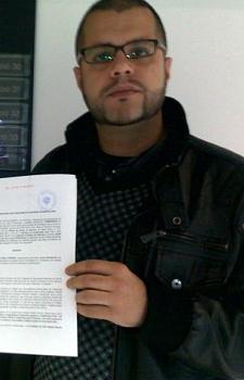 Rubèn Novoa, militante de Solidaritat que ha amenazado de muerte a Albert Rivera, presidente de Ciudadanos y diputado autonómico.