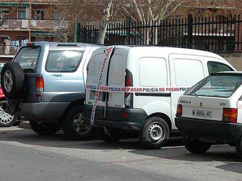 Furgoneta Renault Kangoo supuestamente relacionada con los atentados.