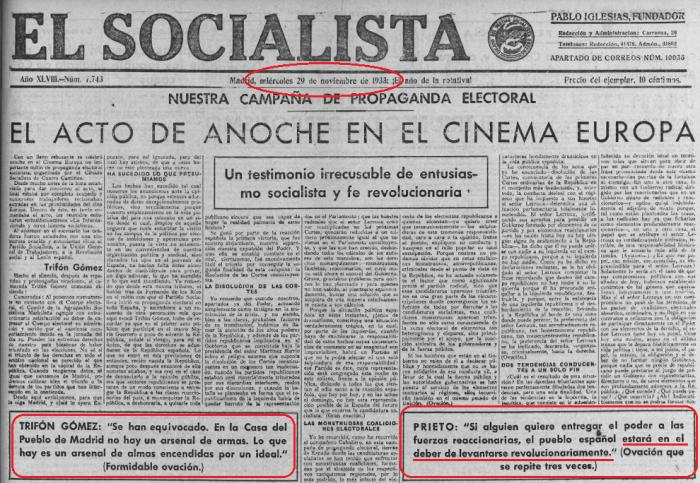 El Socialista 29-11-1933