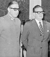 Augusto Pinochet y Salvador Allende, en 1973.