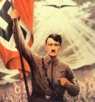 Detalle de un cartel de propaganda nazi.
