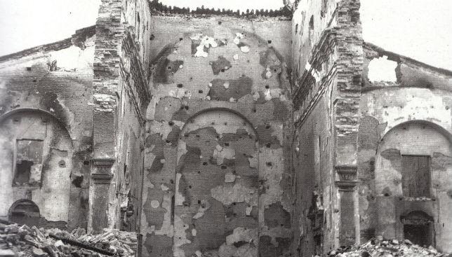 Estado en el que se quedó la iglesia de San Roque