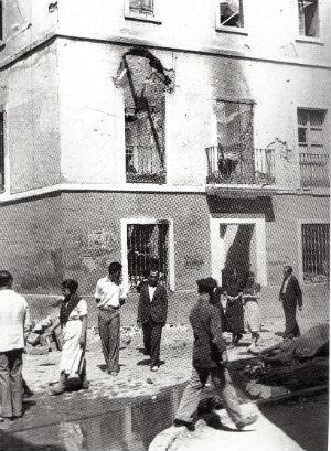 Incendio de la vivienda del párroco de San Gil