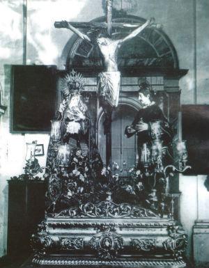 El Crucificado de San Agustín, desaparecido en el incendio de San Roque. 13