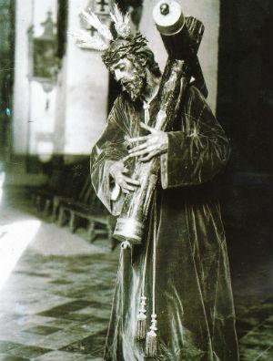El primitivo Nazareno de la Salud, de la hermandad de los Gitanos, desaparecido en el incendio de San Román.