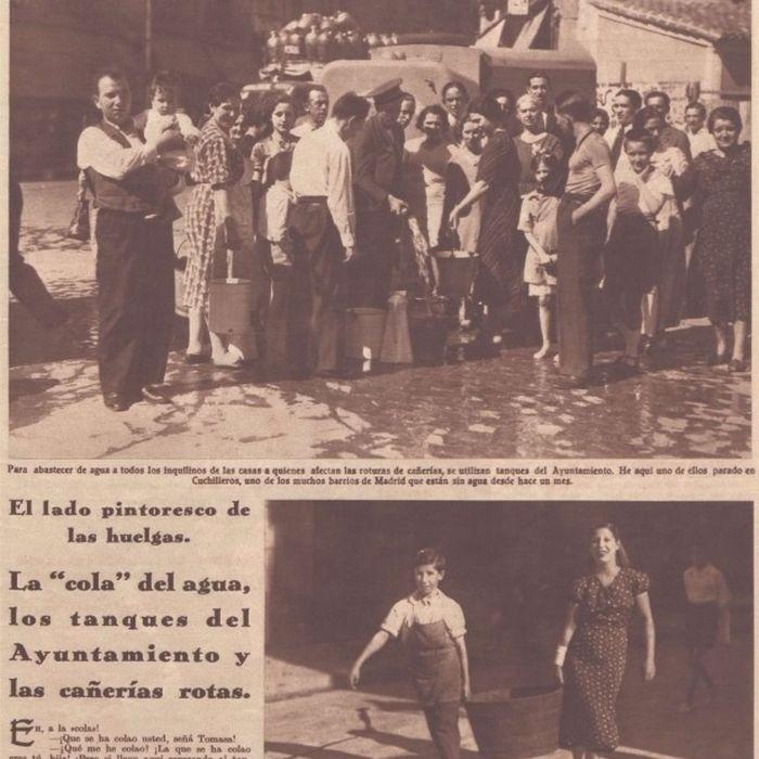 Página del 7 de julio de 1936 de la revista Crónica sobre la huelga del agua.