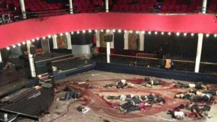 Interior de la sala Bataclan tras el atentado del 13N.