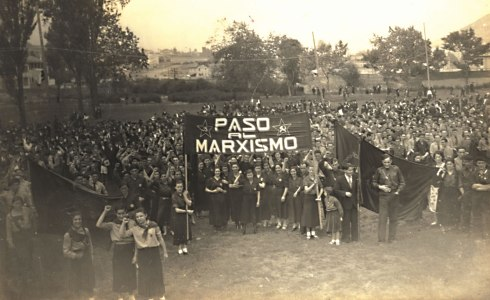 Concentración socialista en el Campo de Maniobras de Oviedo, el 14 de junio de 1936