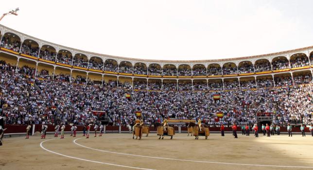 Imagen de la plaza de toros de Las Ventas (Madrid), la más importante del mundo.