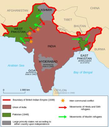 India fue anexionando territorios después de su independencia, algunos de manera pacífica y otros mediante conflictos. Fuente: Origins