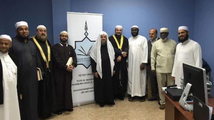 Algunos de los profesores de la universidad islámica de Minnesota.