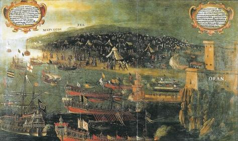 Desembarco de los moriscos en el Puerto de Orán. Por Vicente Mestre