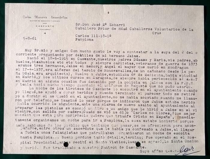 carta-carlos-munarriz-hcvc-5-8-61