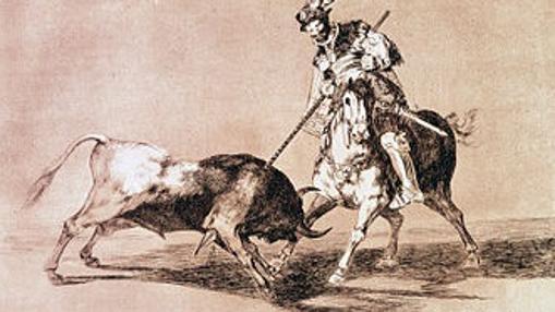 El Cid, lanceando un toro