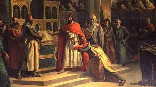 El Cid obliga a jurar al rey que no ha colaborado en la muerte de su hermano