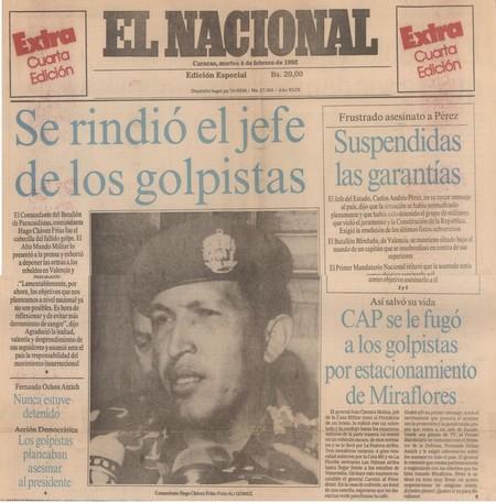 Resultado de imagen de chavez golpe de estado
