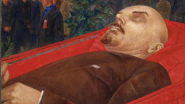 «Junto al ataúd de Lenin», óleo de Kuzma Petrov-Vodkin pintado en 1924