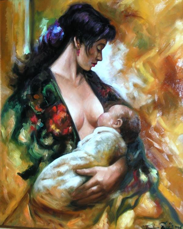 Resultado de imagen de maternidad pintura