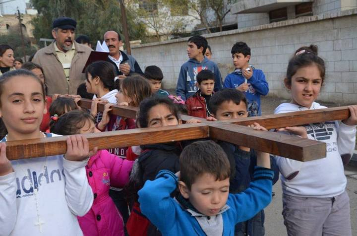 Peregrinación de niños iraquíes