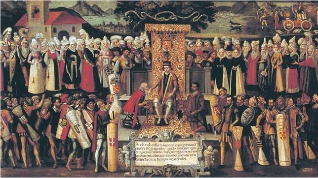 Fernando «el Católico» recibe la pleitesía de las Juntas Generales de Vizcaya, reunidas en Guernica, en 1476