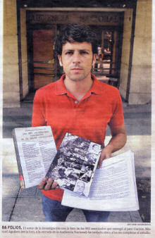 El periodista Manuel Aguilera a la puerta de la Audiencia Nacional