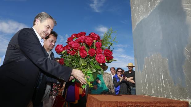 El expresidente acudió al acto del X aniversario de la Ley de Memoria Histórica que se celebró en León en 2017