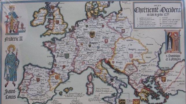 Mapa francés de 1235. Cataluña no aparece reflejada como tal