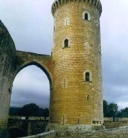Detalle del castillo de Bellver (Mallorca).