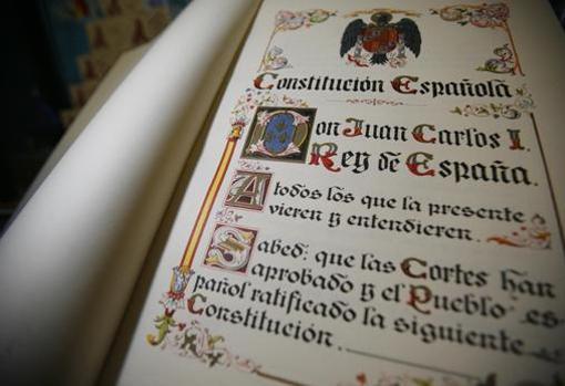 Facsimil de la Constitución española de 1978