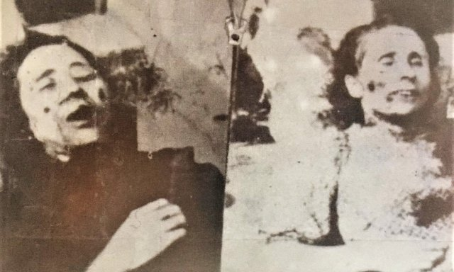Fotografías hechas por el sepulturero de Vicálvaro de la madre Inés (derecha) y de sor Mª del Carmen (izquierda)