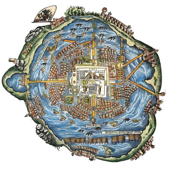 Plano de la ciudad de Tenochtitlan en 1519