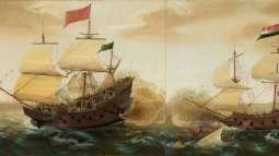 Galeones-españoles-contra-galeones-holandeses