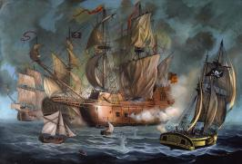 two-spanish-ships-attacked-by-pirates-anton-atanasov-art