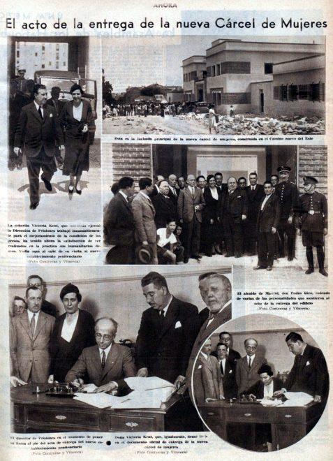 Inauguración de la cárcel de Ventas el 31 de agosto de 1933.