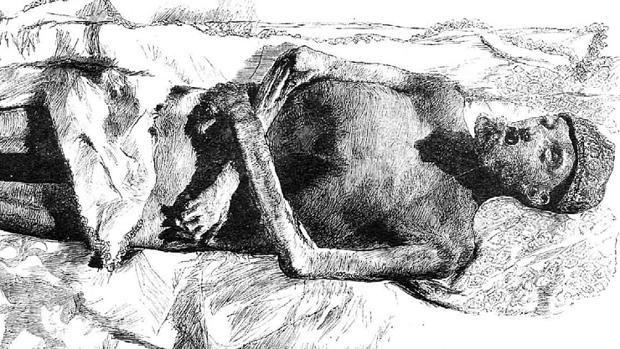 Momia del emperador Carlos V en El Escorial, copiada del natural, de Martín Rico