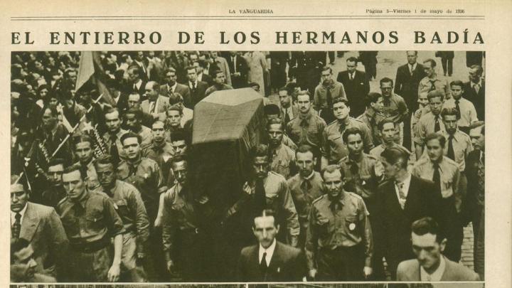 Los hermanos Badia, reivindicados por Torra, crearon milicias paramilitares de corte fascista