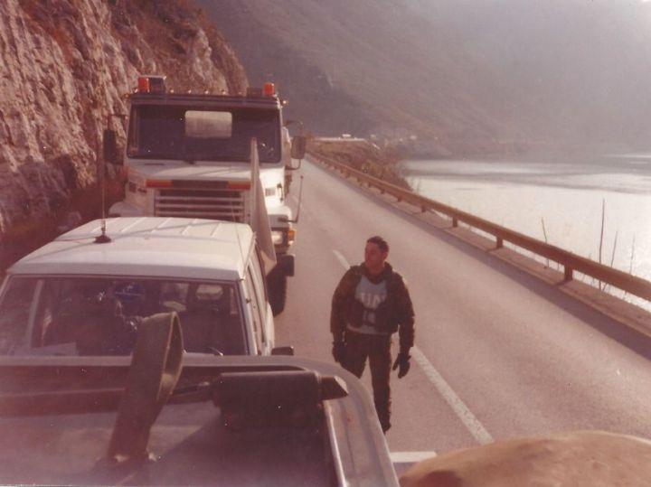 Somonte, en su despliegue en Bosnia.