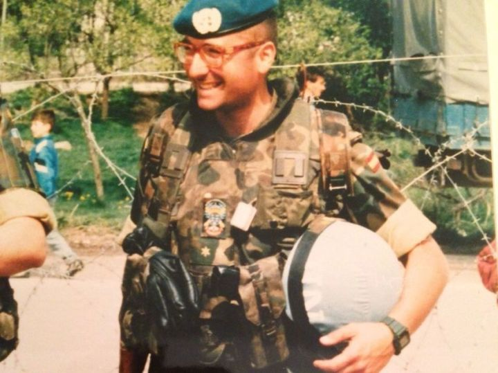 José Luis Monterde, en una imagen de archivo en Bosnia.