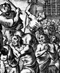 Aguafuerte mostrando esclavos de Berbería