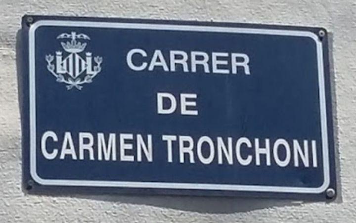 Calle de Carmen Tronchoni, en Valencia