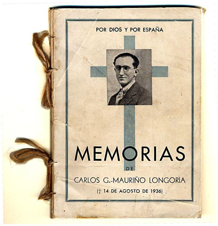 Primera edición de las memorias de Carlos García-Mauriño Longoria