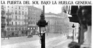 La Puerta del Sol bajo la Huelga General