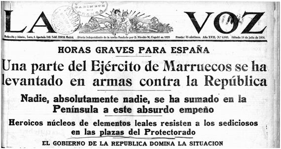 """Manuel de Moya Martínez on Twitter: """"En estas fechas coincide el  aniversario del comienzo de la guerra civil española, un buen momento para  repasar algunas de las portadas de la prensa en"""